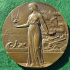France, Coin & Medal Workers Union, 50th Anniversary 1949, heavy bronze medal