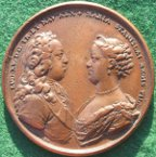 Louis XV marriage medal 1725