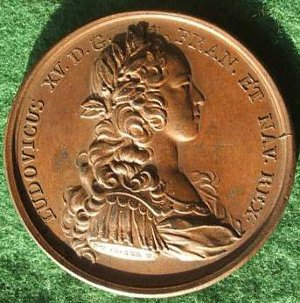 Louis XV, Coming of Age 1723, bronze medal