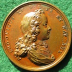 Louis XV, visit of the King to the Paris Mint 1719, bronze medal