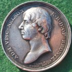 Admiral Horatio Nelson & the Battle of Trafalgar 1805, silver medal by T Webb/JP Droz, 41mm, for Mudie's series