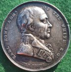 Admiral Howe, Naval Victory of the First of June 1794, silver medal by W Wyon