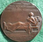 Belgium, Medicine, Colonel Dr Paul Derache, Great War army doctor, laudatory bronze medal