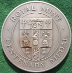 Millennium of High Sheriff's Office 1992, silver medal issued by the Royal Min