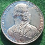 Admiral Horatio Nelson & the Battle of the Nile 1798, white metal medal by T Wyon