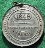 Shipwrecked Fishermen & Mariners Benevolent Society, Membership medal 1849, white metal
