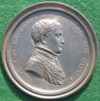 Napoleon Bonaparte, lead-filled cliché medal by Andrieu, with Oxford University association