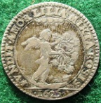 Charles I and Henrietta Maria, marriage 1625, silver medalet