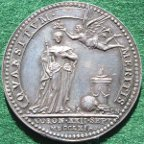 Queen Charlotte (George III's wife), Coronation 1761 silver medal
