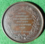 Royal Cornwall Polytechnic Society instituted 1833, First Class prize medal