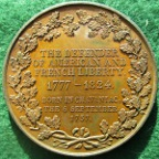 General Lafayette, American Tour 1824, bronze medal