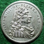 William III, Centenary of Accession and the Glorious Revolution 1788, white metal meda