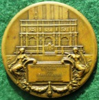 Italy, Venice, New Campanile erected in St Mark's Square 1912, bronze medal