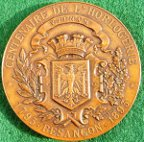 Besançon, Centenary of Watchmaking 1893, bronze medal 51mm, by Oscar Roty
