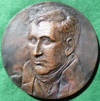 Davy's Miner's Lamp, 200th Anniversary 1978, large cast bronze medal