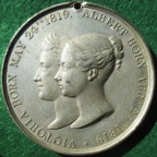Queen Victoria & Prince Albert, Visit to Scotland 1842, white metal medal by J Davis