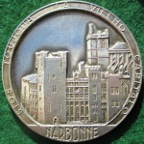 Narbonne, uniface silver medal circa 1970