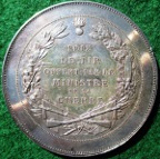 Ministry of War Shooting Prize medal, circa 1920, by Eugène Oudiné