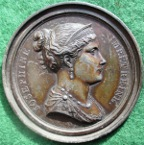 Empress Josephine, bronzed lead-filled cliché medal by Andrieu