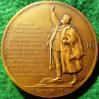 France, Marshall Joffre 1916, bronze medal by Henri Nocq