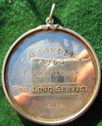 Institute of Clayworkers  Instituted 1895, silver long-service medal by Thomas Fattorini