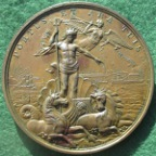 George III, Death 1820, white metal medal by T Wyon