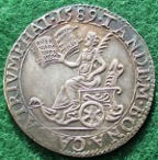 Defeat of the Spanish Armada and Thanksgiving 1589, silver medal