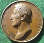 Duke of Wellington appointed Governor of Plymouth 1819, bronze medal