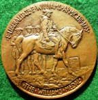 Massachusetts, Williams College, The Williams Medal 1918, large bronze medal by James Earle Fraser, named to 2nd Lt. Philip H Seaman