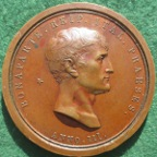 Napoleon assassination attempt 1800, bronze medal by Manfredini