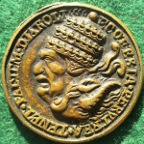 Protestant anti-Catholic satirical medal, 16th/17th  century