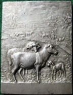 St Aignan sur Roé, silvered bronze agricultural prize medal awarded 1923, by Alphée  Dubois