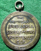 The Royal Warwickshire Regiment, silver prize medal for the Birmingham Jewellers & Silversmiths Football Cup 1930