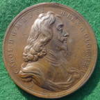 Charles I memorial medal by Roettier 1695