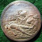 Belgium, General Leman and the Defence of Liège 1914, silvered bronze medal by Godefroid Devreese