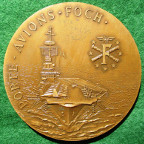 Great War, General Foch, Aircraft carrier launched 1960, large bronze medal after G Prud'homme