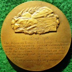 France/ USA, The Battle of Saint Mihiel 1918, bronze medal by Edouard Fraisse