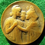 France, Return of Alsace and Lorraine to France, 11 November 1918, bronze medal by Paul Roger-Bloche