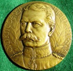 France/ Great Britain, Lord Kitchener, bronze memorial medal 1916 by J-P Legastelois