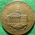 Lancaster Town Hall opened 1909, bronze medal