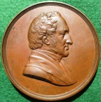 Henry Hallam, Historian, laudatory bronze medal 1859, by L C Wyon