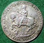 Charles I, the Return to London 1633 by Nicholas Briot, cast silver medal