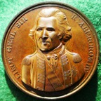 English Army arrives in Egypt 1801, bronze medal