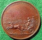 Princess Clementina Sobieski of Poland, the Escape from Innsbruck 1719, bronze medal by Otto Hamerani