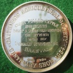 Caithness Agricultural Society, Centenary Show 1934, silver medal by WJ Dingley