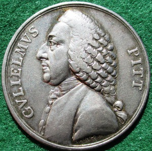 William Pitt, Repeal of the Stamp Act 1766, silver medal