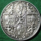 France, Visit of Louis Philippe I and the Royal Family to the Paris Mint 1833, large silvered bronze medal