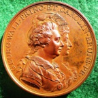 George Prince of Wales, Marriage to Caroline of Brunswick 1795, bronze medal by Conrad Küchler