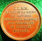 France/ Germany, the visit of the King and Queen of Bavaria to the Paris Mint 1810, bronze medal by Andrieu