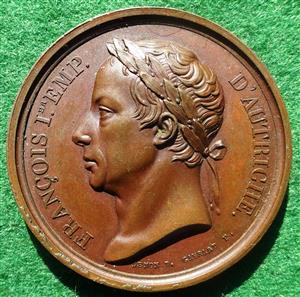France/ Austria, the visit of Francis I of Austria to the Paris Mint 1814, bronze medal by Gayrard